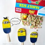 Find the 7th MInion and make DIY Minion Stick Puppets