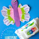 Easy Clean up Handprint Butterfly Craft