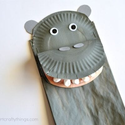 Paper Bag Hippopotamus Kids Craft