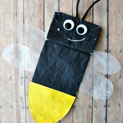 Paper Bag Lightning Bug Kids Craft