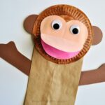 Paper Bag Monkey Craft for Kids