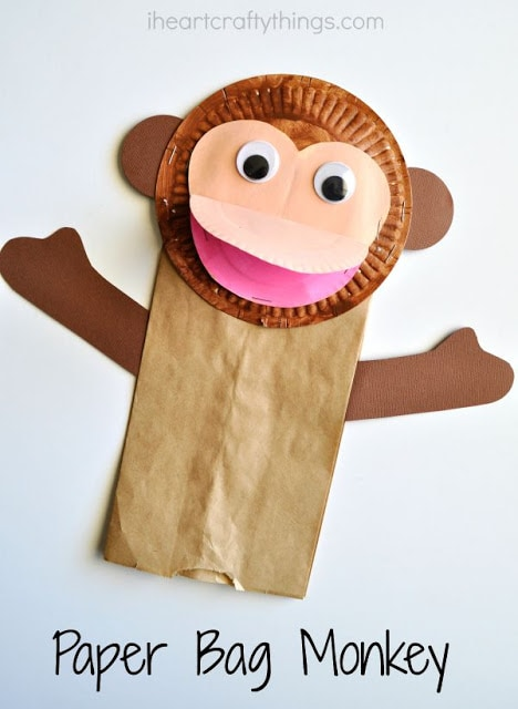 puppets for preschoolers to make paper bag monkey craft for 39004