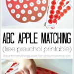 Alphabet Apple Matching Printable for Preschoolers