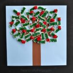 Apple Tree Kids Craft made with Packing Peanuts