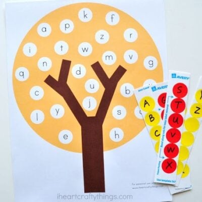 Fun Fall Tree ABC Match Preschool Printable
