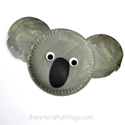 Paper Plate Koala Kid Craft