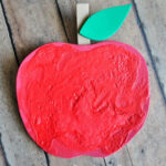 Puffy Paint Apple Craft for Kids