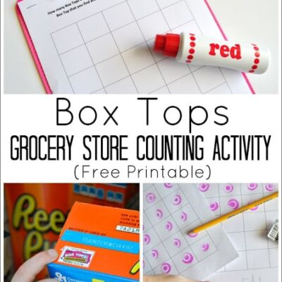 Box Tops Grocery Store Counting Activity