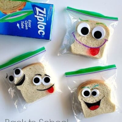 DIY Back-to-School Silly Face Sandwich Bags