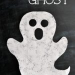 Halloween Sponge Painted Ghost Craft
