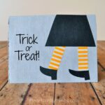 DIY Witches Feet Halloween Card