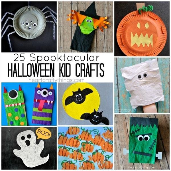 25 Spooktacular Halloween Kid Crafts I Heart Crafty Things