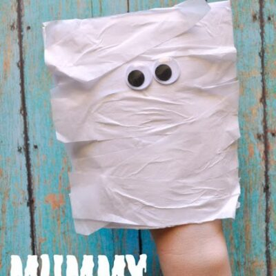 Mummy Envelope Puppet Kids Craft