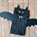 Paper Bag Bat Halloween Craft for Kids