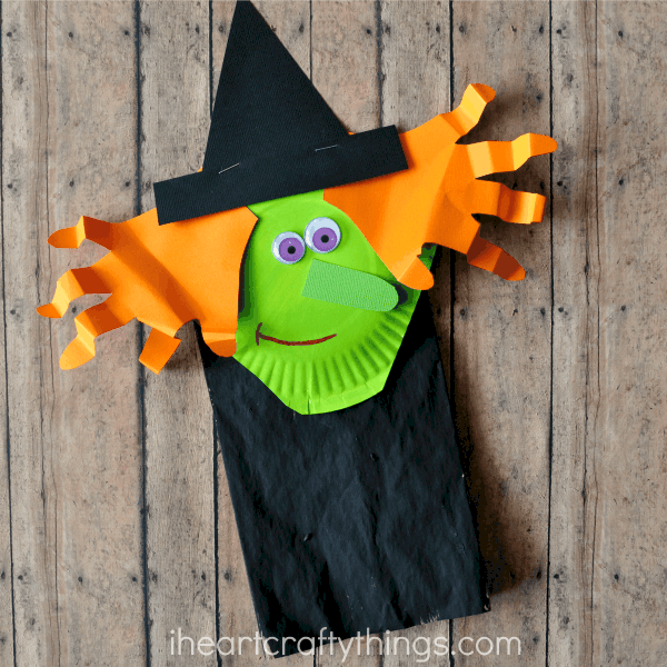 paper bag halloween witch craft for kids - Halloween Printable Crafts For Kids 2