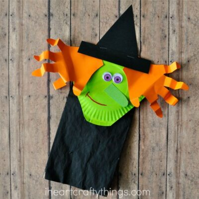 Paper Bag Halloween Witch Craft for Kids