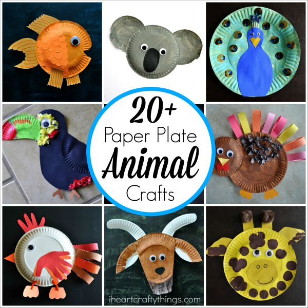 Click on the links below the pictures to go to the original paper plate craft tutorials and for pinning inidual posts. I hope after seeing these you are ...  sc 1 st  I Heart Crafty Things & 20+ Paper Plate Animal Crafts for Kids | I Heart Crafty Things
