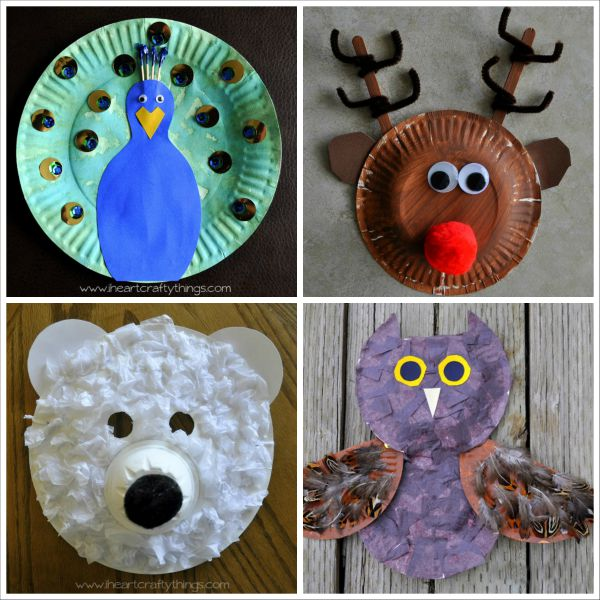 20+ Paper Plate Animal Crafts for Kids & 20+ Paper Plate Animal Crafts for Kids | I Heart Crafty Things