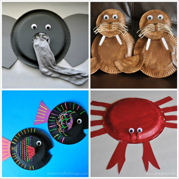 20+ Paper Plate Animal Crafts for Kids  sc 1 st  I Heart Crafty Things & 20+ Paper Plate Animal Crafts for Kids | I Heart Crafty Things