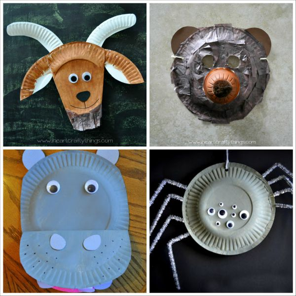 20+ Paper Plate Animal Crafts for Kids | I Heart Crafty Things