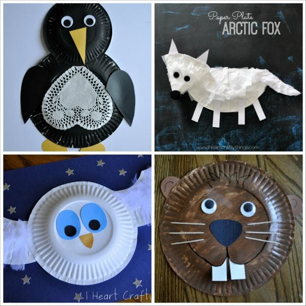 & 20+ Paper Plate Animal Crafts for Kids | I Heart Crafty Things