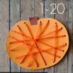 Preschool Pumpkin Lacing Activity with Printable