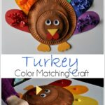 Cute and Colorful Kids Turkey Craft with Color Matching