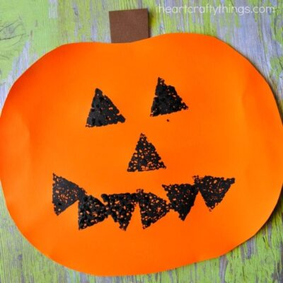 Sponge Painted Jack-o-Lantern Craft