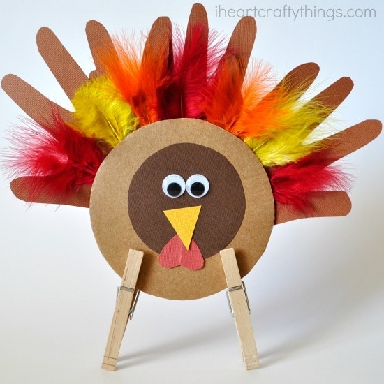 Thanksgiving Kids Turkey Craft I Heart Crafty Things