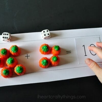 Pumpkin Candy Preschool Math Printable