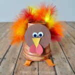 Styrofoam Cup Turkey Craft for Kids