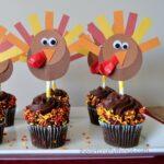 DIY Thanksgiving Turkey Cupcake Toppers