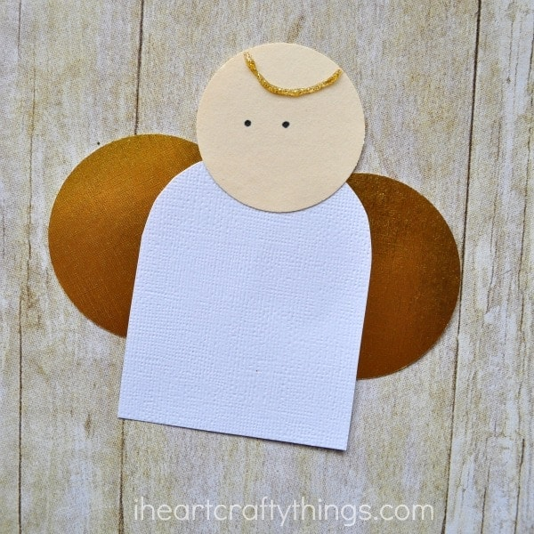 simple paper angel craft for kids