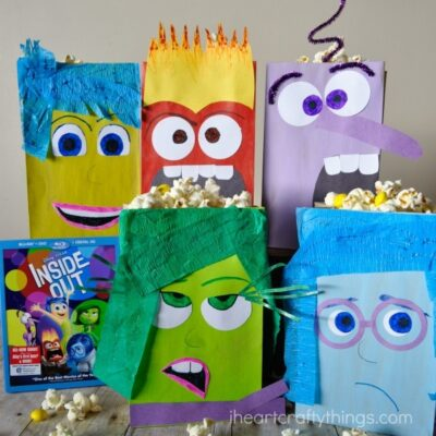How to Make Inside Out Inspired DIY Popcorn Boxes