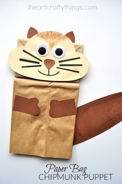 Paper Bag Chipmunk Kid Craft | I Heart Crafty Things