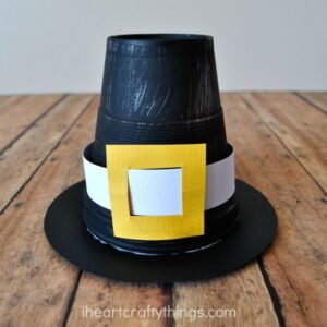 Styrofoam Cup Pilgrim Hat Kid Craft