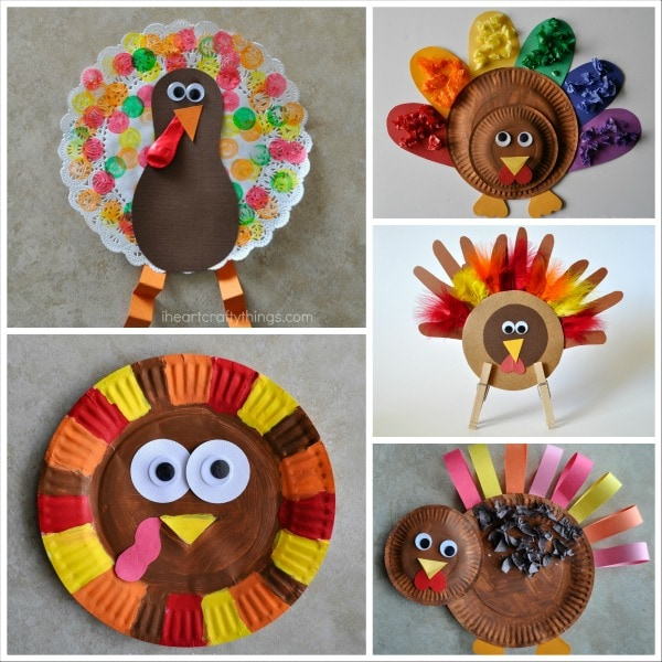 15 Terrific Turkey Crafts For Kids I Heart Crafty Things