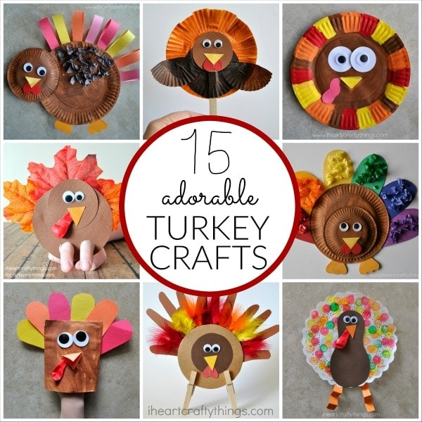 15 terrific turkey crafts for kids i heart crafty things for Thanksgiving crafts for infants