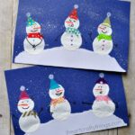 Adorable Bottle Cap Printed Snowman Craft