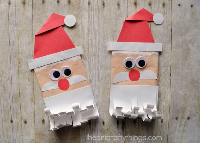 how to make a mini santa hat out of paper