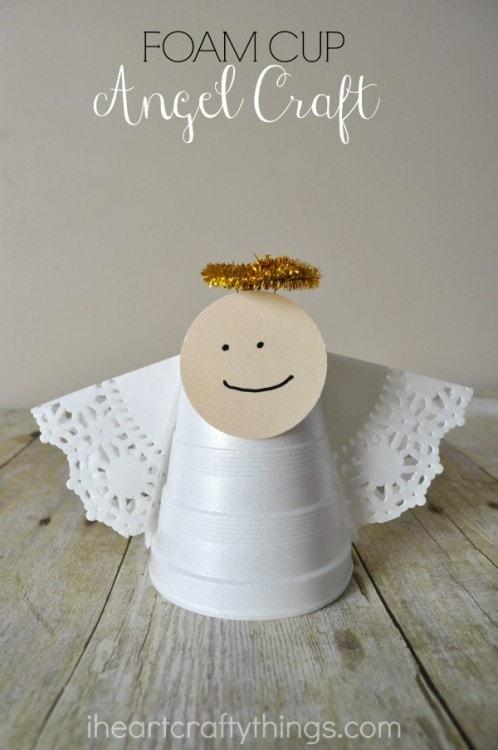 foam cup christmas angel craft