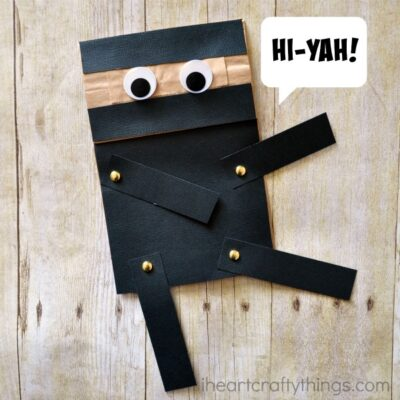 Paper Bag Ninja Craft for Kids …Hi-Yah!