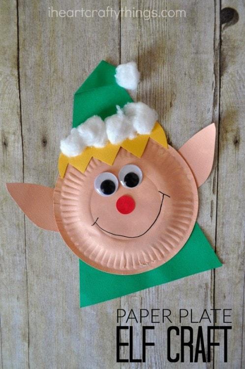 Paper Plate Christmas Elf Craft