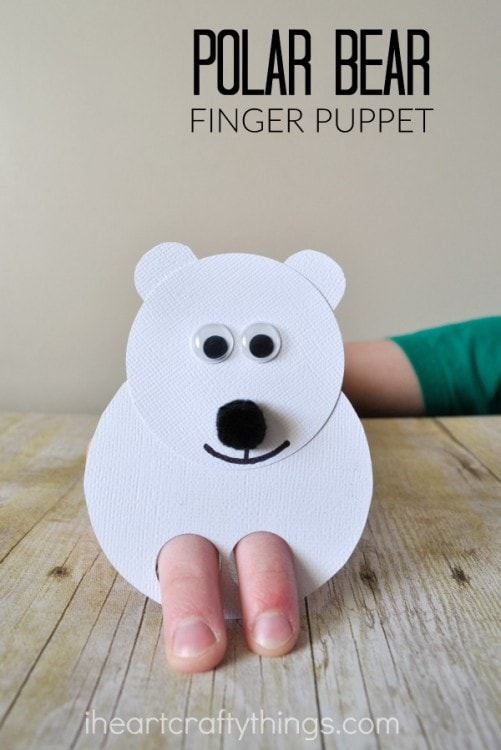 Polar bear kids craft finger puppets i heart crafty things you might also enjoy these crafts pronofoot35fo Images