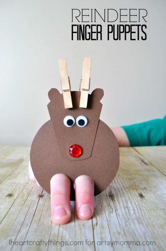 Adorable Diy Reindeer Finger Puppets I Heart Crafty Things