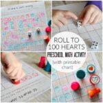 100 Hearts Preschool Math Activity