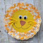 Doily Lion Kids Craft