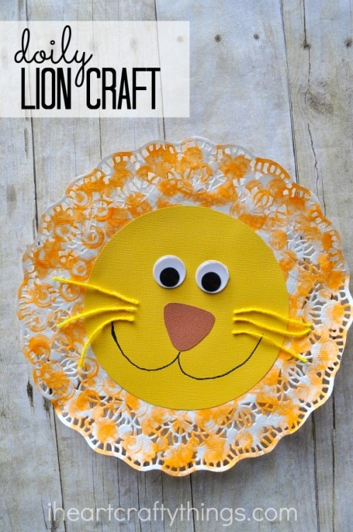 Doily Lion Kids Craft | I Heart Crafty Things