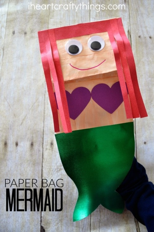 Paper Bag Mermaid Craft For Kids I Heart Crafty Things