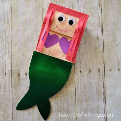 Paper Bag Mermaid Craft for Kids